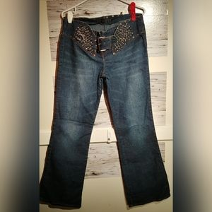 Size 7/8 Hong Kong Armor Jeans w Metal Chains
